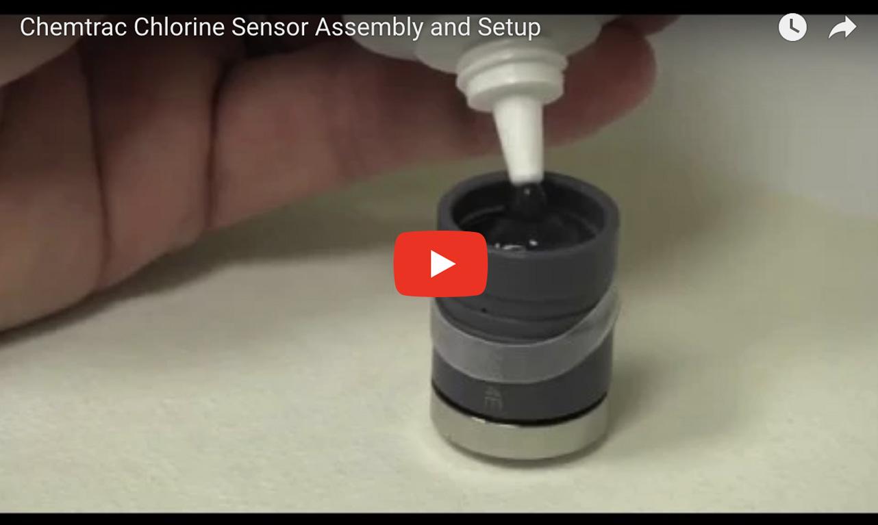 Chemtrac Chlorine Sensor Assembly and Setup