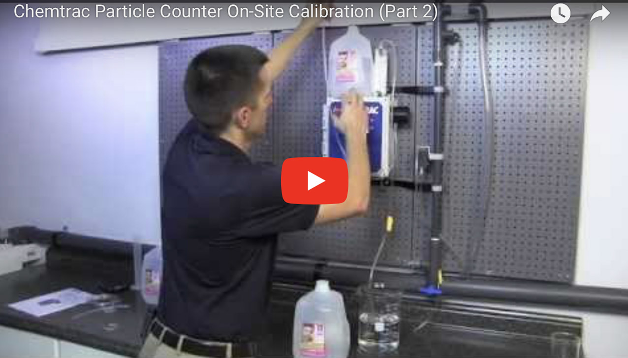 Chemtrac Particle Counter On-Site Calibration (Part 2)